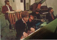 Rehearsing A Day in the Life, Sgt Pepper, 1967 John Lennon Beatles, The Beatles, Great Bands, Cool Bands, Beatles Sgt Pepper, Gentlemen Prefer Blondes, Lonely Heart, The Fab Four, Ringo Starr