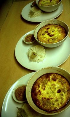Classic Bobotie with a spicy Banana chutney and white rice South African Recipes, Ethnic Recipes, Milk Tart, White Rice, Chutney, Kos, Family Meals, Spicy, Banana
