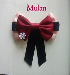 Mulan Inspired Disney Hair Bow by littlebowchicdesigns on Etsy, $8.25