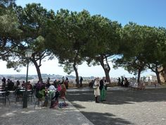 Check out this amazing outdoor cafe. The view of Lisbon is stunning. It faces West so you can catch the sunset. Europe Travel Tips, Us Travel, Top Site, Outdoor Cafe, Lisbon Portugal, Day Trips, Night Life, Dolores Park, Street View