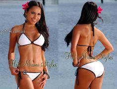 Вязаный купальник бикини Hot Miami Styles. Описание, схема