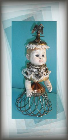 Art doll by Jazzie Menagerie, via Flickr