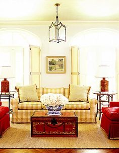 Like The Colors And All Elements In This Room Red Cottage Cozy