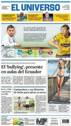 Portada de #DiarioELUNIVERSO del 26 de enero del 2014. Las #noticias de #Ecuador y el mundo en: www.eluniverso.com