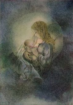 by Sulamith Wulfing - surround the young child with images of the mother & child