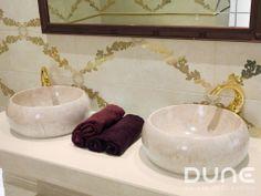 Lavabo Marfil: Bonito lavabo de mármol con vetas y tonalidades beiges