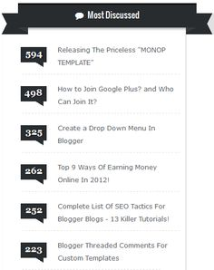 Add Stylish Most Commented Posts Widget to Blogger