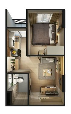 Small Apartment Layout, Small House Layout, House Layout Plans, Small House Design, Small Apartments, House Plans Mansion, Sims House Plans, Modern House Plans, Small House Plans