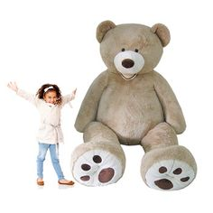 I FINALLY GOT THIS FOR MY BIRTHDAY LAST YEAR- DOES NOT DISAPPOINT IF YOU ARE ON THE FENCE JUST GET ONE -This huge Hugfun bear will take your breath away! WOW is what comes to mind when you see the life size loveable look on its face. In a sitting position, this bear measures a massive 55 inches. Soft, cuddly, and adorable, you will fall in love with this Hugfun bear! - See more at: http://www.costco.co.uk/view/p/hugfun-93-inch-236cm-plush-sitting-bear-3-years-999424#sthash.AZTSzTCK.dpuf