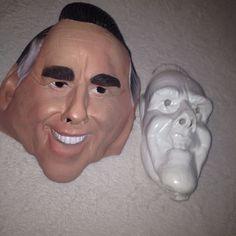 VTG Cesar Latex Mask Bob Dole Full Head Adult Halloween Costume Political 90s