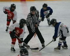 Back to Future #Hockey Beginnings - face off