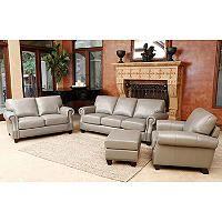 $4699 - bristol vintage leather craftsman 4 piece living room set