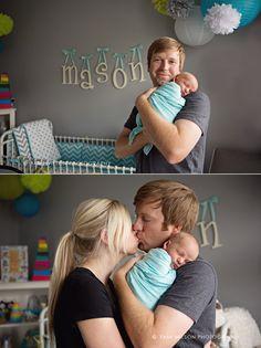 lifestyle newborn baby portrait session