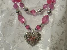 big scrolled heart pendant necklace with by thelemontreeshoppe, $20.00