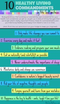 10 Healthy Living Commandments @Bite Size Wellness