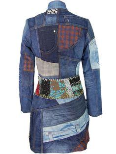 Upcycled coat   Manteau DESIGUAL
