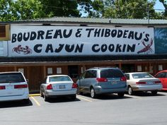 Boudreau & Thibodeau's, Houma, Louisiana. Unfussy joint dishes up classic Cajun seafood & other casual grub in kid-friendly roadhouse digs. web site is bntcajuncookin.com
