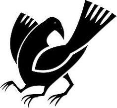 Yatagarasu guides Emperor Jimmu towards the plain of Yamato. In Japanese mythology, this three-legged flying creature is a raven or a jungle crow called Yatagarasu (八咫烏, eight-span crow). The Raven, Raven Art, Japanese Family Crest, Creature Picture, Japanese Mythology, Japanese Folklore, Crows Ravens, Image Macro, Animal Design