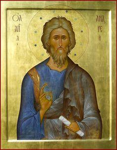 "29. St. apostle Andrew. 2013. Wood, gesso, tempera, gilding.  21,3""x 16,5"". Private collection (Moldova)."