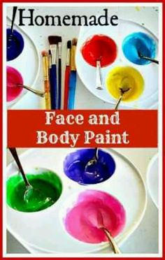 Easy 2 TSP corn starch 1 tsp body lotion/cream 1 tsp water Food color