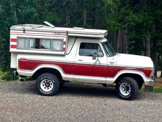 Q's 1979 ford Bronco with an 86 four wheel popup camper.