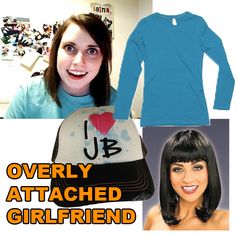 Overly Attached Girlfriend Overly Attached Girlfriend, Bad Luck Brian, Daily Dot, Pull Off, Diy Halloween Costumes, Entertaining, Sweatshirts, Sweaters, Fashion