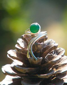 Handmade Green Agate Ring 1