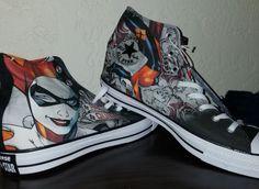 c02749291a6d09 NIB Converse DC Comics Chuck Taylor All Star Sneakers Harley Quinn W 15   M  13