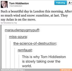 Tom taking over the world