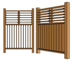 Fence with adjustable louvers Hot Tub Privacy, Patio Privacy Screen, Outdoor Privacy, Privacy Walls, Privacy Fences, Privacy Screens, Diy Fence, Backyard Fences, Fence Ideas