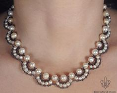 Driving weave necklace or bracelet with beads for pearls. Discussion on LiveInternet - Russian Service Online Diaries