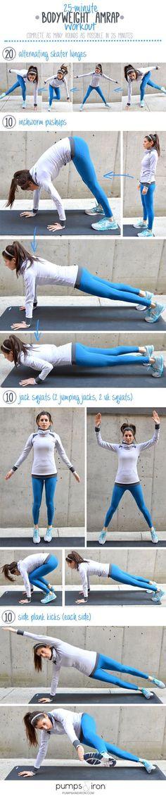 25-Minute Bodyweight AMRAP Workout