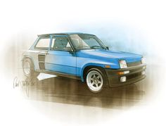 Renault 5 Turbo, sketch by Pavel Hruby