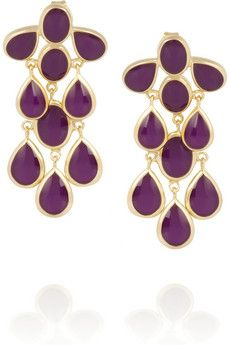 gold-plated Transparent purple enamel Butterfly fastening for pierced ears Other Accessories, Fashion Accessories, Purple Accessories, Isharya, Beauty Case, Gold Plated Earrings, Jewelry Organization, Ear Piercings, Jewelry Collection