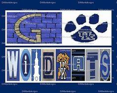 University of Kentucky Wildcats Framed Alphabet Art