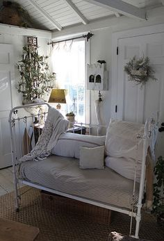 dreamy- I have this antique crib but mine does not look this dreamy.