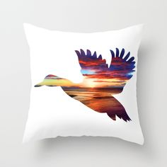 @paisleyprintsonline $20.00 http://society6.com/product/duck-5yz_pillow#25=193&18=126