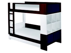 The Duet Bunk Bed comes with numerous options, providing parents and children the opportunity to customize a sleep solution that suits individual requirements for utility and style. As fun as the Duet is for kids, it is also detailed and manufactured to satisfy a visually informed adult aesthetic