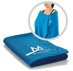 Mission EnduraCool Instant Cooling Towel Courtesy Mission The EnduraCool towel retains its chill even in the hottest sun. A user first soaks the 27-by-55-inch towel and wrings it out. As air flows around the special hollow fibers, the water inside evaporates, bringing any remaining droplets to 30 degrees below body temperature. Mission EnduraCool Instant Cooling Towel $40
