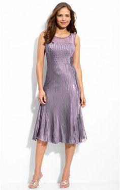 Reasonable Sheath Knee-length Jewel Purple Chiffon Dress