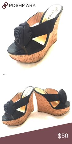 Enigma platform sandals with cork wedge Enigma platform sandals with cork wedge in very good condition! enigma Shoes Wedges