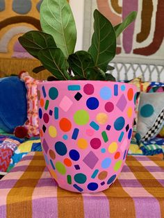 Painted Clay Pots, Painted Flower Pots, Painted Jars, Diy Arts And Crafts, Diy Crafts For Kids, Fun Crafts, Keramik Design, Decorated Flower Pots, Pottery Painting Designs