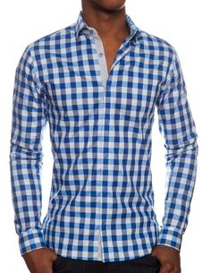 Stone Rose Italian Fabric Blue & Grey Plaid Dress Shirt for Men. 100% Cotton (X-large (Size 5)) Stone Rose, To SEE or BUY just CLICK on AMAZON right HERE http://www.amazon.com/dp/B00IMWH8TO/ref=cm_sw_r_pi_dp_uKGmtb1EQY2V1GGR