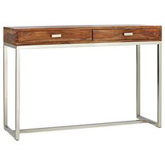 Atelier - Scandinavian - Wood console table with stainless steel legs/CONSOLES/ACCENT TABLES/ATELIER BOUCLAIR|Bouclair.com
