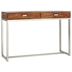console inspir e du style industriel en bois et m tal d co d 39 int rieur pinterest consoles. Black Bedroom Furniture Sets. Home Design Ideas