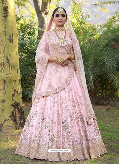 Astounding Pastel Lehengas That Are In Vogue This Season Pink Bridal Lehenga, Sabyasachi Lehenga Bridal, Bridal Lehenga Online, Pink Lehenga, Indian Bridal Lehenga, Pakistani Bridal Dresses, Lehenga Choli, Indian Saris, Bridal Gowns
