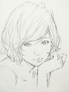 Kkk Drawing Poses, Drawing Sketches, Art Drawings, Pencil Drawings, Character Illustration, Illustration Art, Manga Art, Anime Art, Portrait Au Crayon