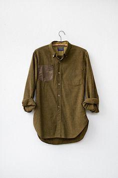 vintage Pendleton shirt / Pendleton wool shirt / vintage wool shirt / mens shirt. $58.00, via Etsy.