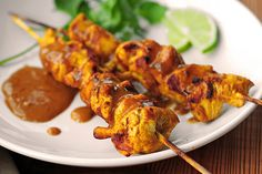 The recipe combines a marinade and a peanut sauce to create a perfect savory, sweet balance of flavors, the peanut sauce is over-the-top good