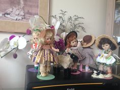 VINTAGE GINNY DOLLS-BEVIE OF FIVE  BEAUTIES-WEARING TAGGED OUTFITS,MUST SEE ALL #VINTAGEGINNYDOLLS